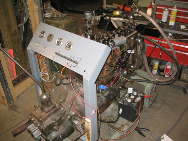 engine testing  the stand also has a water jacket heater which brings the engine up to 150 making starting easier also an electric fuel pump is used to insure that the
